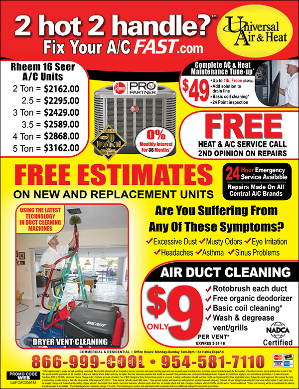 Ac Repair Ac Tune Up Duct Cleaning Weston Fl