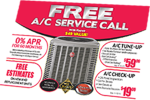free ac repair service call