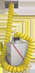 3500 cfm negative air duct cleaning machine