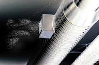 duct blowing dirt Air Duct Cleaning Procedures