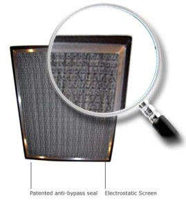 no bypass aluminum frame AC air filter