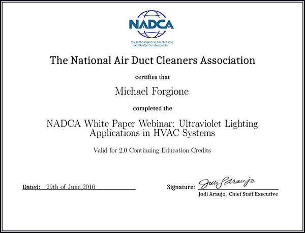 NADCA certification