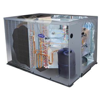 Carrier Comfort 13 package unit heat pump 50zhb
