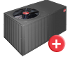 Rheem dedicated horizontal heat pump