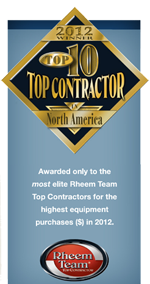 rheem most elite top contractor flat bottom