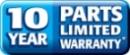 10 uear parts warranty