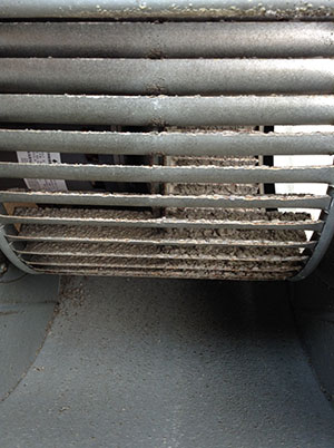 dirty air conditioner fan
