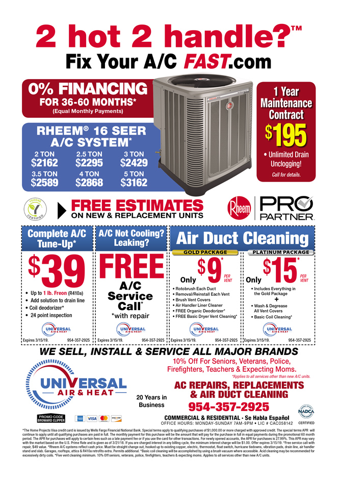 Advertised Air Conditioning Ac Repair Duct Cleaning